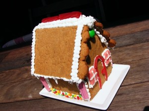 This small-ish gingerbread house is just right for a first project or a fair-sized gift