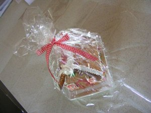 cellophane and a pretty ribbon turn it into an instant gift